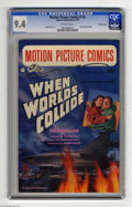 """Golden Age (1938-1955):Science Fiction, Motion Picture Comics #110 - Crowley pedigree (Fawcett, 1952) CGCNM 9.4 Off-white pages. The science fiction film """"When Wor..."""