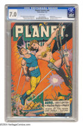 Golden Age (1938-1955):Science Fiction, Planet Comics #46 (Fiction House, 1947) CGC FN/VF 7.0 White pages.Murphy Anderson, George Evans, Lily Renee, and Bob Lubber...
