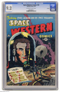 Golden Age (1938-1955):Science Fiction, Space Western #43 Spokane pedigree (Charlton, 1953) CGC NM- 9.2Off-white to white pages. You read that right: Space Weste...