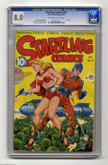 Golden Age (1938-1955):Science Fiction, Startling Comics #53 (Better Publications, 1948) CGC VF 8.0Off-white to white pages. Thank you, Alex Schomburg, for another...