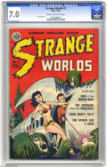 Golden Age (1938-1955):Science Fiction, Strange Worlds #1 (Avon, 1950) CGC FN/VF 7.0 Cream to off-whitepages. Crom the Barbarian has a familiar ring to it, doesn't...