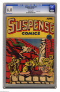 Golden Age (1938-1955):Horror, Suspense Comics #4 (Continental Magazines, 1944) CGC FN 6.0Off-white pages. This comic's bondage cover by L. B. Cole featur...