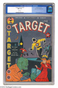 Golden Age (1938-1955):Superhero, Target Comics V2#5 Mile High pedigree (Novelty Press, 1941) CGC NM+ 9.6 White pages. Here is a stunner for the aficionado of...