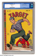 Golden Age (1938-1955):Miscellaneous, Target Comics V8#2 Mile High pedigree (Novelty Press, 1947) CGC NM 9.4 White pages. This beautiful copy of Target Comics...