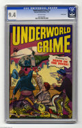 Golden Age (1938-1955):Crime, Underworld Crime #4 Crowley pedigree (Fawcett, 1952) CGC NM 9.4 Off-white pages. You may have noticed that Fawcett's name do...