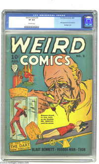 Weird Comics #5 (Fox Features Syndicate, 1940) CGC VF 8.0 Off-white pages. This bondage and hypodermic needle cover show...