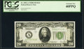 Small Size:Federal Reserve Notes, Fr. 2052-A $20 1928B Dark Green Seal Federal Reserve Note. PCGS Extremely Fine 40PPQ.. ...