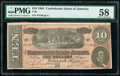 Confederate Notes:1864 Issues, T68 $10 1864 PF-44 Cr. 552 PMG Choice About Unc 58.. ...