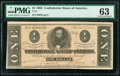 Confederate Notes:1864 Issues, T71 $1 1864 PF-10 Cr. 573A PMG Choice Uncirculated 63.. ...