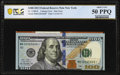 Cutting Error Fr. 2188-B* $100 2013 Federal Reserve Note. PCGS Banknote About Unc 50PPQ