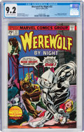 Bronze Age (1970-1979):Horror, Werewolf by Night #32 (Marvel, 1975) CGC NM- 9.2 Off-white to white pages....