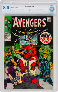 The Avengers #54 (Marvel, 1968) CBCS VF 8.0 Off-white pages