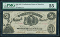 Confederate Notes:1861 Issues, T8 $50 1861 PF-8 Cr. 20 PMG About Uncirculated 55.. ...