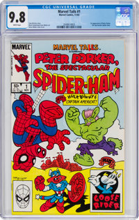 Marvel Tails Starring Peter Porker the Spectacular Spider-Ham #1 (Marvel, 1983) CGC NM/MT 9.8 White pages