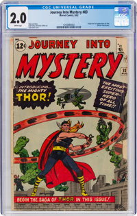 Journey Into Mystery #83 (Marvel, 1962) CGC GD 2.0 White pages