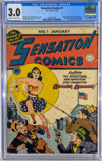 Sensation Comics #1 (DC, 1942) CGC GD/VG 3.0 Cream to off-white pages