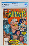 Modern Age (1980-Present):Superhero, The New Mutants #87 (Marvel, 1990) CBCS NM 9.4 Off-white to white pages....