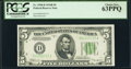 Fr. 1958-D $5 1934B Federal Reserve Note. PCGS Choice New 63PPQ