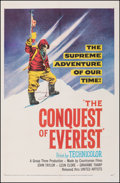 "Movie Posters:Documentary, Conquest of Everest (United Artists, 1954). Fine+ on Linen. One Sheet (27"" X 41.5""). Documentary.. ..."