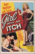 """Movie Posters:Bad Girl, Girl with an Itch (Howco, 1958). Fine+ on Linen. One Sheet (27"""" X 41""""). Bad Girl.. ..."""