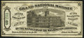 (Philadelphia, PA)- Grand National Matinee Lottery Ticket Jan. 8, 1868 Very Fine