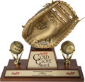Baseball Collectibles:Others, 1969 Joe Pepitone Gold Glove Award with Pepitone Letter.