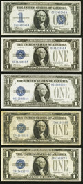 Fr. 1600 $1 1928 Silver Certificate. About Uncirculated; Fr. 1601 $1 1928A Silver Certificate. Choice Crisp Uncirculated...