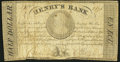 Canada La Prairie, LC- Henry's Bank 1/2 Dollar 27.6.1837 Very Good