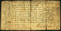 Maryland March 1, 1770 $1/3 Very Good-Fine