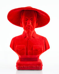 Frank Kozik (b. 1962) Ho Chi Minh (Red), c. 2007 Cast resin with flocking 18 inches (45.7 cm) hig