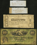 Augusta, GA- Mechanics Bank Bank Wrapper ND Ungraded; Savannah, GA- Bank of Commerce Bank Wrapper ND Ungraded; Centra...
