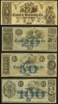 Obsoletes By State:Louisiana, New Orleans, LA- New Orleans Canal and Banking Company $5; $20; $50; $100 18__ Remainders Crisp Uncirculated.. ... (Total: 4 notes)