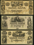 Obsoletes By State:Louisiana, New Orleans, LA- New Orleans Canal and Banking Company $20; $50; $100 18__ Remainders Crisp Uncirculated.. ... (Total: 3 notes)