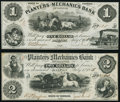 Obsoletes By State:Georgia, Dalton, GA- Planters and Mechanics Bank of Dalton $1; $2 July 1, 1856 G2b; G5b Very Fine-Extremely Fine or Better.. ... (Total: 2 notes)