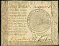 Continental Currency September 26, 1778 $60 Extremely Fine-About New