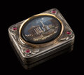 Silver & Vertu, A Silvered and Gilt Metal, Garnet, and Micromosaic Grand T...