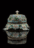 Silver & Vertu, A George W. Shiebler Silver and Plique-à-Jour Enamel Call...