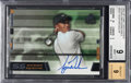 Golf Cards:General, 2003 Upper Deck SP Game Used Scorecard Signatures Tiger Woods #TW2 BGS Mint 9- Autograph 9. ...