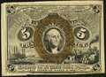 Fr. 1234 5¢ Second Issue Very Fine