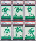 """Football Cards:Sets, 1961 Lake to Lake """"Green Bay Packers"""" Complete Set (36). ..."""