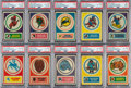 Football Cards:Sets, 1968 Topps Test Team Patch and Stickers High Grade Complete Set (44). ...