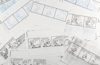 Jim Davis and Studio Garfield Daily Comic Strip Preliminary Original Art Group of 155 (United Feature Syndicate, 1... (T...
