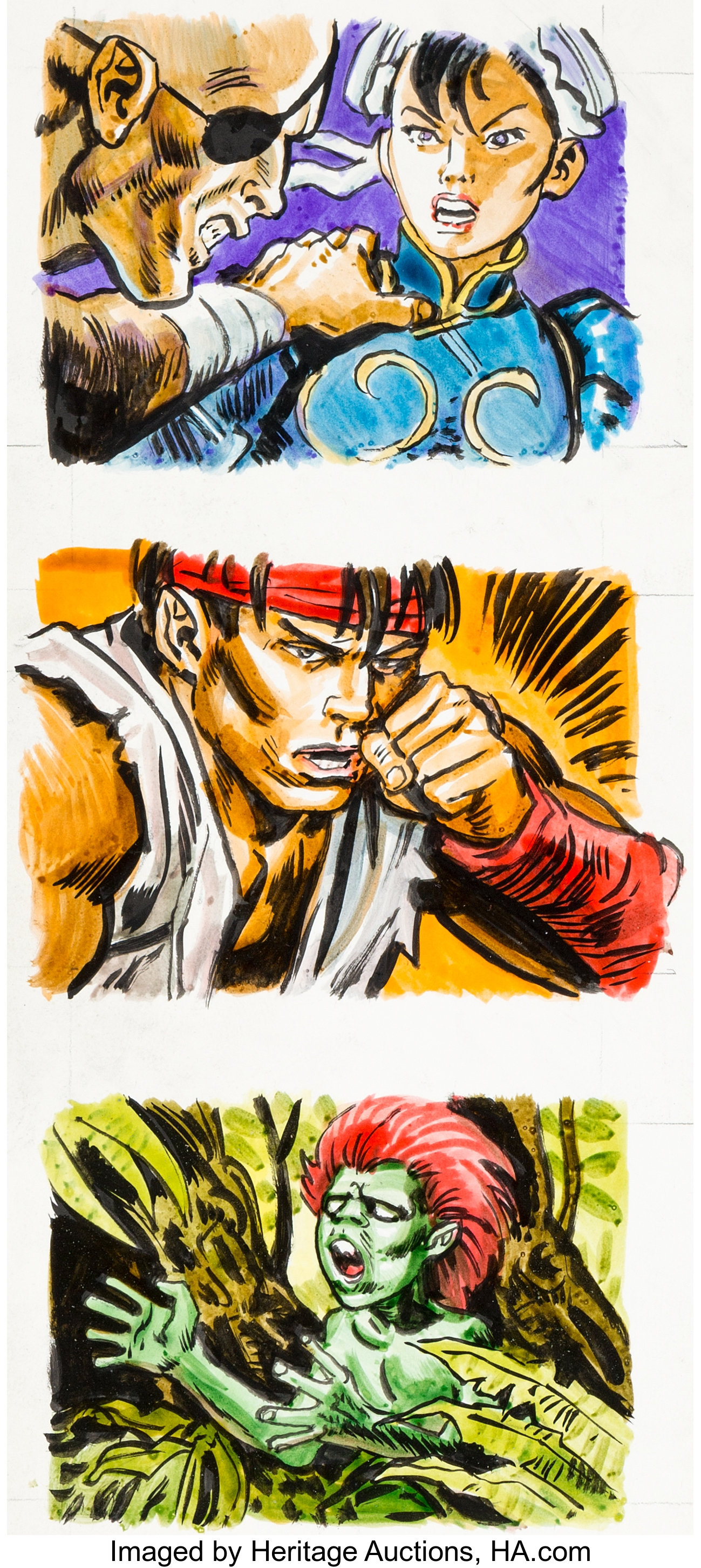 Oliver Frey Capcom S Street Fighter Ii Promotional Stickers Chun
