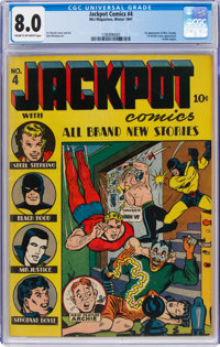 Jackpot Comics #4 (MLJ, 1941) CGC VF 8.0 Cream to off-white pages