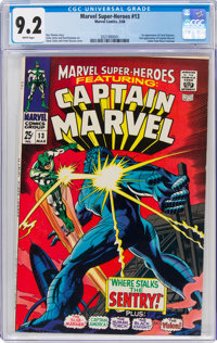 Marvel Super-Heroes #13 Captain Marvel (Marvel, 1968) CGC NM- 9.2 White pages