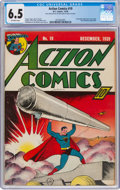 Golden Age (1938-1955):Superhero, Action Comics #19 (DC, 1939) CGC FN+ 6.5 Off-white pages....