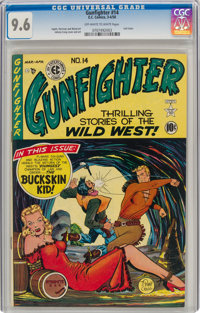 Gunfighter #14 (EC, 1950) CGC NM+ 9.6 Off-white to white pages