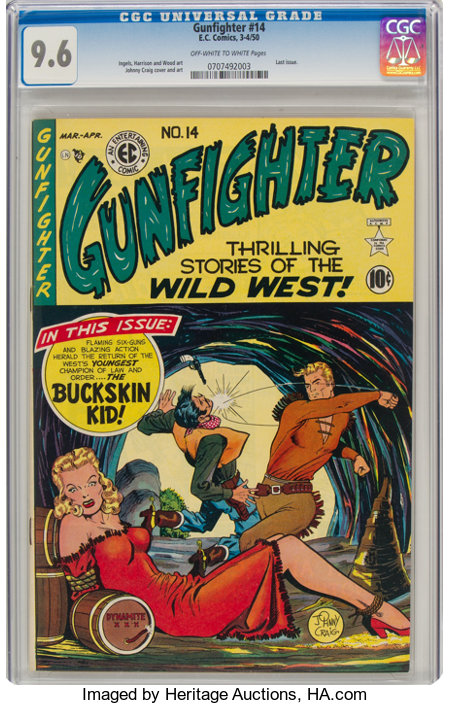 Gunfighter #14 (EC, 1950) CGC NM+ 9.6 Off-white to white pages....