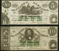 Montgomery, AL- State of Alabama $5; $10 Jan. 1, 1864 Cr. 15; 14 Very Fine-Extremely Fine. ... (Total: 2 notes)