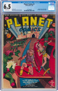 Golden Age (1938-1955):Science Fiction, Planet Comics #1 (Fiction House, 1940) CGC FN+ 6.5 Off-white pages....